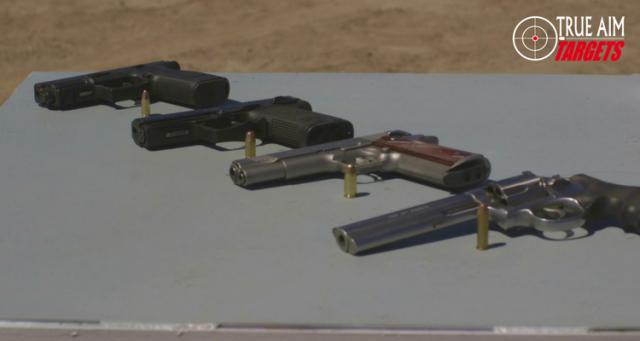 True AIm Targets The RIG 6 Handgun Clalibers